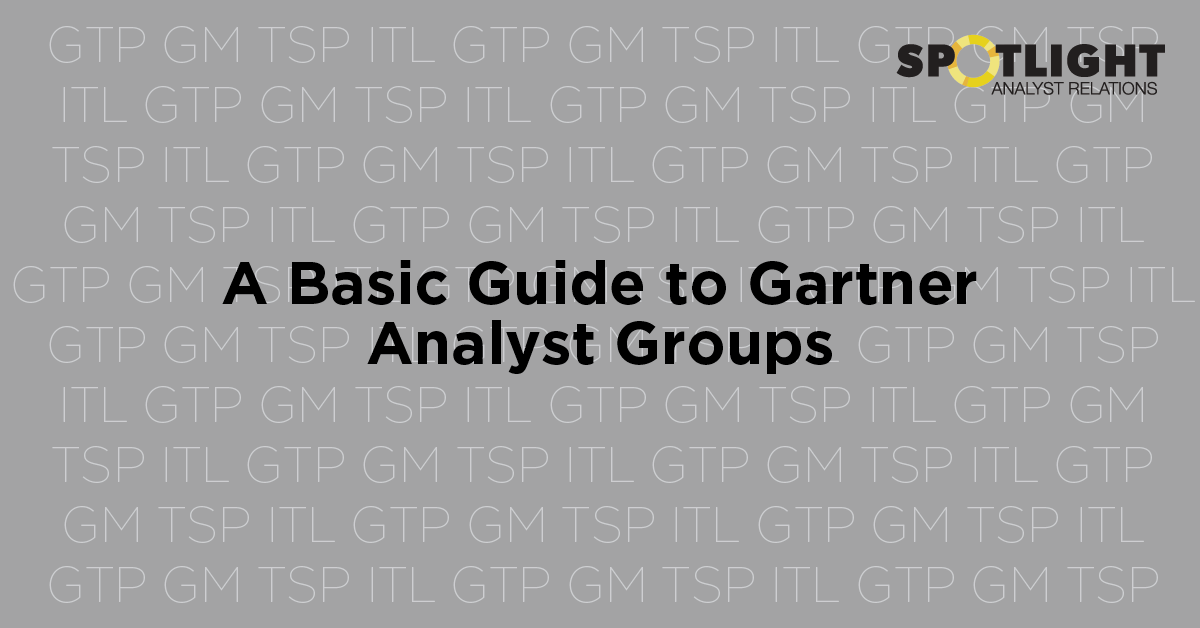 A basic guide to Gartner analyst groups