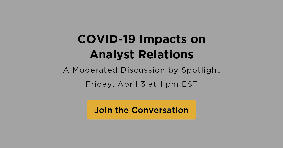 COVID-19 impacts on analyst relations